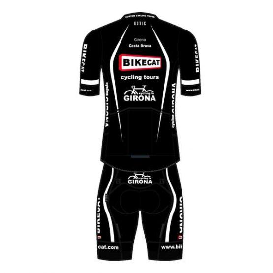 Bikecat black cycling kit - back