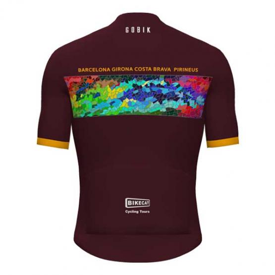 Gaudi Jersey - Barcelona Girona Costa Brava and Pirineus - burgundy men's jersey
