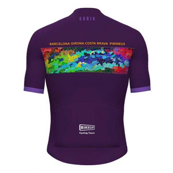 Gaudi Jersey - Barcelona Girona Costa Brava and Pirineus - purlple women's jersey - back