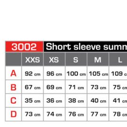 short sleeve jersey - size guide